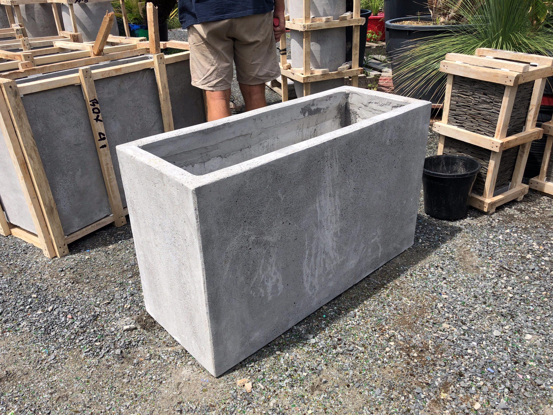 Planter Box Concrete smooth finish - Bamboo South Coast