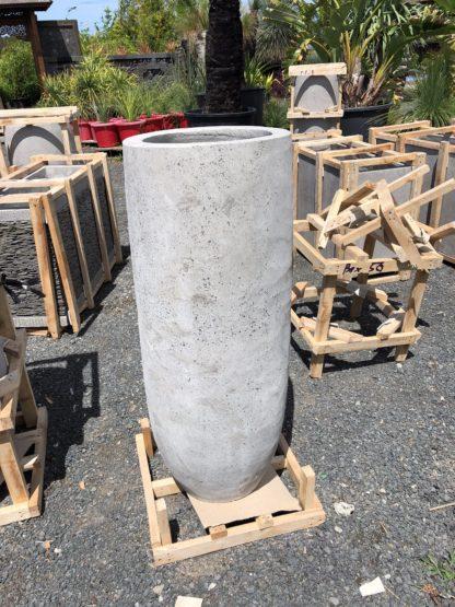 Smooth Concrete pot 85cmx30cm TALL