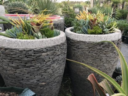 Slate pots URN SHAPE 60cm (h) x 60cm (w)
