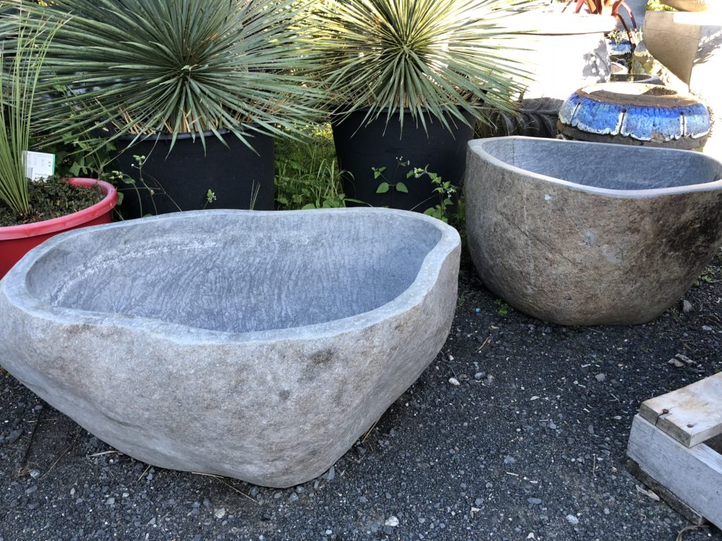 Natural River Stone pot/ Birdbath /Waterfeature