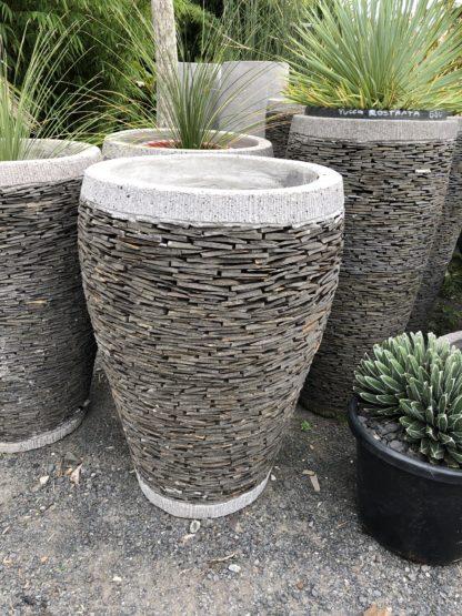 Slate pot 80cm(h) x 60cm(w) BARREL SHAPE