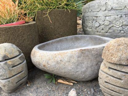 Natural stone birdbath waterfeature pot 65-75cm