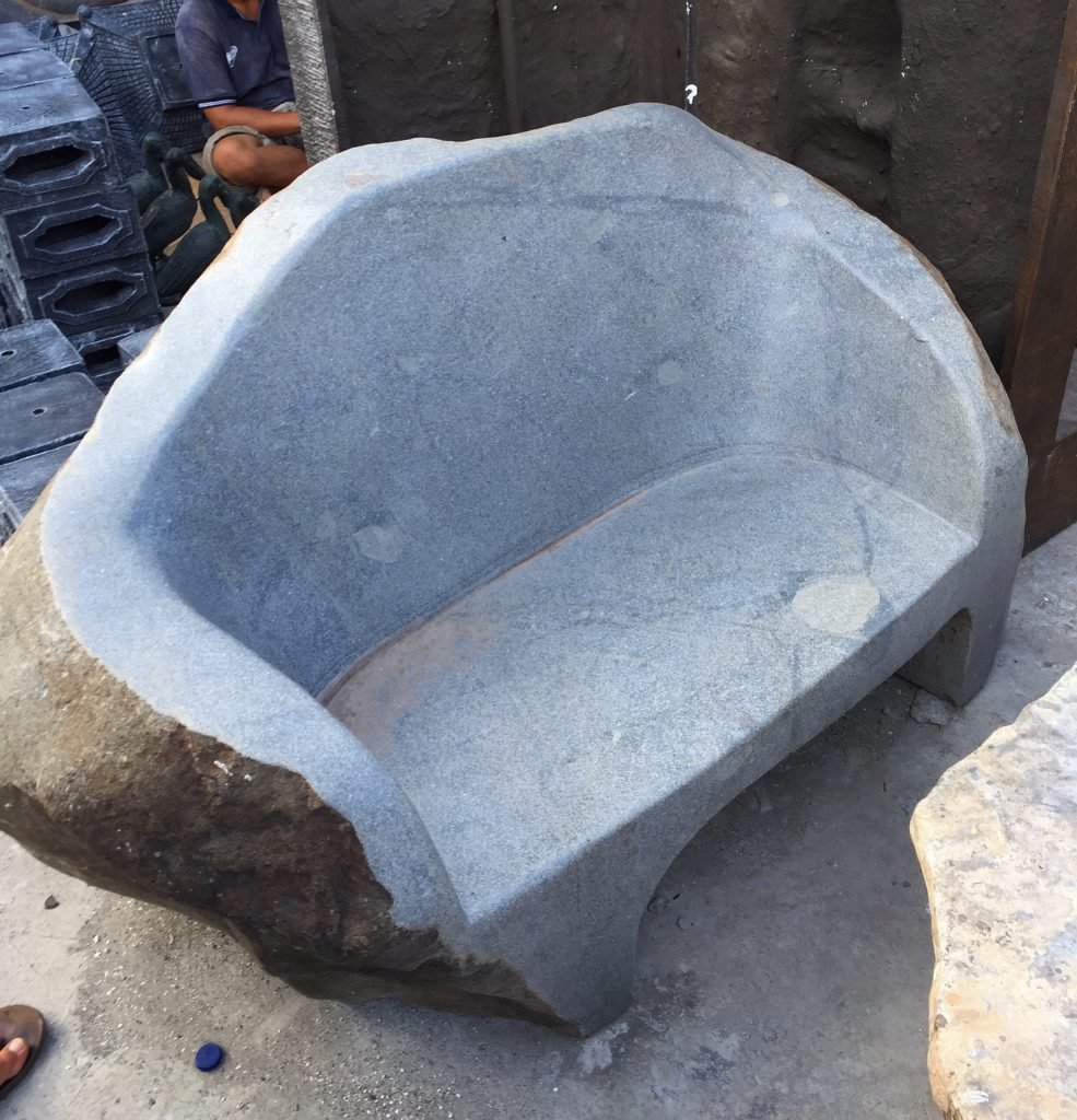 Natural stone Seat river stone carved POA